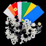 Funs Puzzle ShuangRen 54.6mm 3x3 Magic Cube DIY Kit White