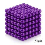 216pcs 5mm Magnetic Balls Puzzle Toy Purple