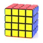 LanLan Tiled 4x4x4 Puzzle Magic Cube Black