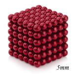 216pcs 5mm Magnetic Balls Puzzle Toy Red