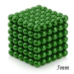 216pcs 5mm Magnetic Balls Puzzle Toy Green