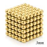 216pcs 3mm Magnetic Balls Puzzle Toy Golden
