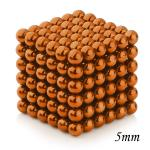216pcs 5mm Magnetic Balls Puzzle Toy Orange