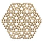 216pcs 5mm Magnetic Balls Puzzle Toy Golden
