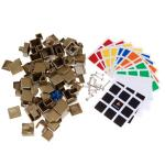 MuFang 3x3x3 Magic Cube DIY Kit Dark Gold-Plating (Limited E...