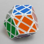 LanLan 4-Layer Rhombus Dodecahedron Magic Cube White
