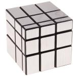 3x3x3 Brushed Silver Mirror Magic Cube Black