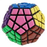 QJ 12-Color Megaminx Tiled Magic Cube Black