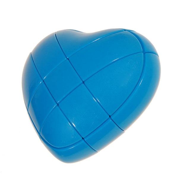 YJ 3x3 Blue Heart Magic Cube Puzzle_3x3x3_Cubezz.com: Professional ...