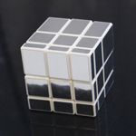 3x3x3 Silver Mirror Magic Intelligence Test Cube White