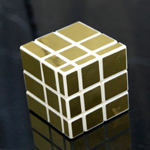 3x3x3 Golden Mirror Magic Intelligence Test Cube White