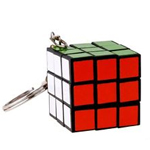 Maru 3x3x3 30mm Screw Spring Magic Cube Keychain Black