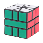 CubeTwist Square-1 Magic Cube with Triangle Base + Pouch (Bl...
