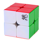 Mini DaYan 2x2 V1 (ZhanChi 2x2) Magic Cube 46mm Colored