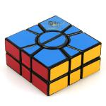 QJ 2x3x3 2-Layer Super Square-1 Magic Cube Black