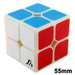 Funs Puzzle 55mm ShiShuang 2x2x2 Stickered Magic Cube Cloudy...