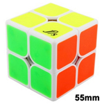 Funs Puzzle 55mm ShiShuang 2x2x2 Stickered Magic Cube White