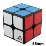 Funs Puzzle 55mm ShiShuang 2x2x2 Stickered Magic Cube Black