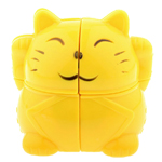 YJ Cute Plutus Cat 2x2x2 Pocket Cube Yellow