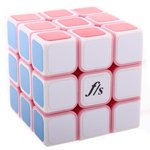 DIY Mini Funs Puzzle ShuangRen 54.6mm Speed Cube Pink Body W...
