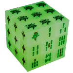 Luminous Mahjong Style 3x3x3 Magic Cube