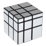 ShengShou Brushed Silver Mirror Magic Cube Black