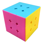 YJ MoYu DianMa 3x3x3 Stickerless Magic Cube Pink Version