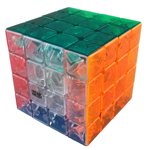 MoYu AoSu 4x4x4 Stickerless Speed Cube 62mm Transparent