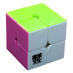 YJ MoYu LingPo 2x2x2 Stickerless Magic Cube Pink Version