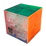 MoYu LingPo Stickerless 2x2x2 Magic Cube Transparent