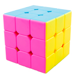 MoYu HuaLong 3x3x3 Stickerless Speed Cube Pink Version