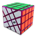 MoYu AoSu Crazy 4x4x4 Windmill Speed Cube Transparent Purple