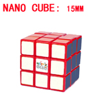 Maru 15mm Nano Cube - Smallest 3x3x3 Magic Cube DIY Kit Red
