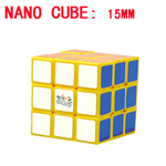 Maru 15mm Nano Cube - Smallest 3x3x3 Magic Cube DIY Kit Yell...