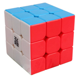 YJ MoYu AoLong 3x3x3 Stickerless Speed Cube 57mm Fluorescent Color