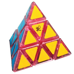 DaYan Pyraminx Speed Cube Transparent Pink