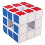 3x3x3 LanLan Void Hollow Magic Cube White