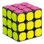 YongJun 3x3x3 Diamonds Shape Tiled Magic Cube Transparent Bl...