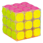 YongJun 3x3x3 Diamonds Shape Tiled Magic Cube Transparent
