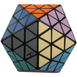 MF8 & OSKAR Icosahedron Version II Magic Cube Puzzle Black