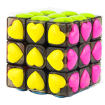 YongJun Heart Tiled 3x3x3 Magic Cube Puzzle Black