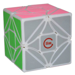 limCube 3x3x3 Simplified Dreidel Magic Cube White