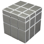 ShengShou Brushed Silver Mirror Blocks Magic Cube White