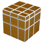 ShengShou Brushed Golden Mirror Blocks Magic Cube White
