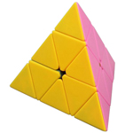 FanXin Pyraminx Stickerless Magic Cube Pink Vesion