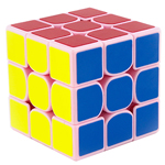 GuoGuan Yuexiao 3x3x3 Speed Cube 55mm Pink