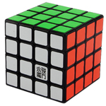 YongJun GuanSu 4x4x4 Magic Cube 62mm Black