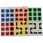 Maru Maze Stickers for 57mm 3x3x3 Speed Cube