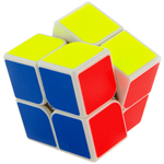 YongJun GuanPo 2x2x2 Magic Cube 50mm White