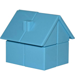 YongJun Magic House 2x2x2 Puzzle Toy Blue